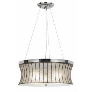 CAL Lighting 1 Light Hardwire Ceiling Mount Multi Color/Chrome Pendant FX 3546/1P
