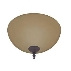 Hunter Ceiling Fan Amber Builder Bowl Light Kit with Bronze and ...