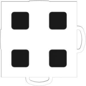 WeatherTech TechFloor 3 in. x 3 in. White/Black Vinyl Flooring Tiles (4 Pack) 51T33 WH BK