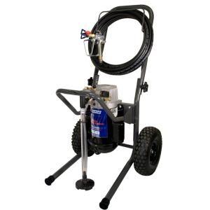 Campbell Hausfeld 1 HP, .44 GPM, Airless Paint Sprayer w/50 Hose, 5 ft. Whip, Pro Gun & 517 tip, fold down cart PS270D