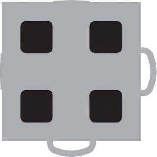 WeatherTech TechFloor 3 in. x 3 in. Grey/Black Vinyl Flooring Tiles (4 Pack) 51T33 GR BK