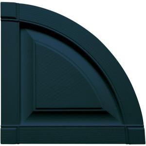 Builders Edge 15 in. x 15 in. Raised Panel Design Midnight Blue Quarter Round Tops Pair #166 050021400166