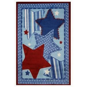 LA Rug Inc. Supreme Denim Dreams Multi Colored 39 in. x 58 in. Area Rug TSC 221 3958