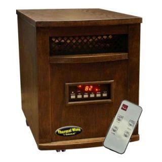 SUNHEAT 17.5 in. 1500 Watt Infrared Electric Portable Heater with Remote Control   Espresso TW1500 Espresso