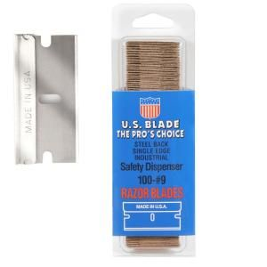 U.S. BLADE 300 Single Edge #9 Steel Back in Clam Shell Package (100 blades per Pack)sold as 3 Sets U 111 41 3
