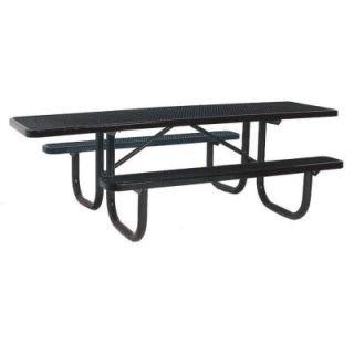Ultra Play 8 ft. Diamond Black Commercial Park ADA Rectangular Portable Table PBK238H V8BK