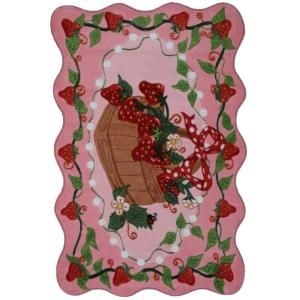 LA Rug Inc. Supreme Strawberry Patch Multi Colored 39 in. x 58 in. Area Rug TSC 223 3958