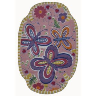 LA Rug Inc. Supreme Glitterfly Multi Colored 39 in. x 58 in. Area Rug TSC 218 3958