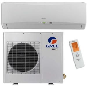 GREE Ultra Efficient 12,000 BTU (1 Ton) Ductless (Duct Free) Mini Split Air Conditioner with Inverter, Heat, Remote 208 230V GWH12TB D3DNA1A