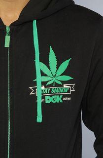 DGK The DGK Stay Smokin Zip Up Hoody in Black