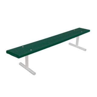 Ultra Play 6 ft. Green Commercial Park Recycled Portable Plastic Bench without Back G942P GRN6