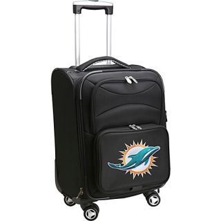 NFL Miami Dolphins 20 Domestic Carry On Spinner Black   D