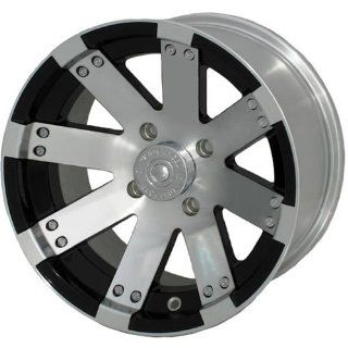 Vision Buck Shot 14 Machined Black Wheel / Rim 4x156 with a 2.5mm Offset and a 131.1 Hub Bore. Partnumber 158 147156BW4: Automotive