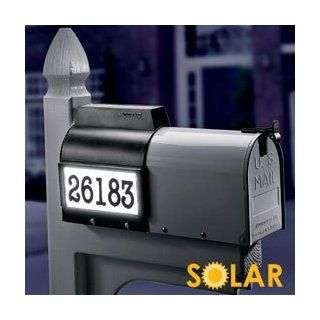 Solar mail box address light with rechargeable batteries included measures 9 inches wide by 12 inches high. Batteries are included and should last about three years under normal conditions. No wiring needed, easy installation. Slips right over your existin