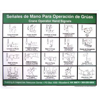 Crane Operator Hand Signal Chart (Spanish): Industrial & Scientific