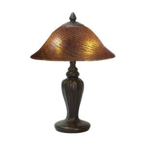 Dale Tiffany Amber 18 in. Antique Bronze Table Lamp DISCONTINUED STT11095