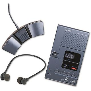 Sony M 2000A Analog Micro Cassette Recorder/Transcriber with Foot Control iPods &  Players