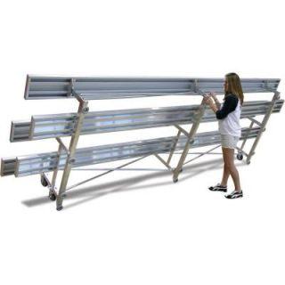 Ultra Play 15 ft. Aluminum Commercial Park Tip N Roll Bleacher Portable ATNB153