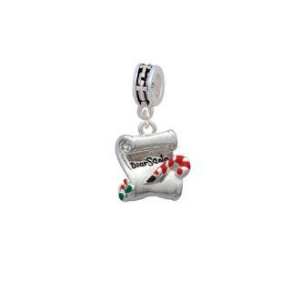 Letter   Dear Santa European Silver Cross Charm Dangle Bead: Delight Jewelry: Jewelry