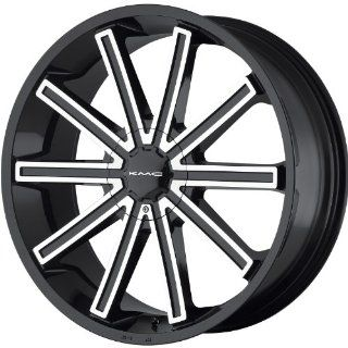 KMC KM681 20 Black Wheel / Rim 5x4.5 & 5x120 with a 38mm Offset and a 74.1 Hub Bore. Partnumber KM68128517338: Automotive