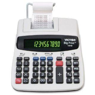 Victor   1310 Big Print Desktop Calculator 10 To 12 Digit 2 Color Dot Matrix Display