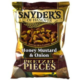 Snyder's Pretzel Pieces   Honey Mustard & Onion, 3er Pack (3 x 125 g Tte): Lebensmittel & Getränke