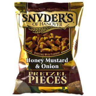 Snyder's Pretzel Pieces   Honey Mustard & Onion, 3er Pack (3 x 125 g Tte): Lebensmittel & Getränke
