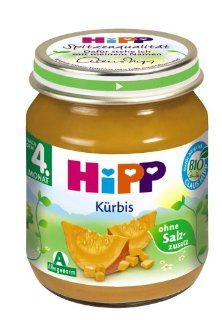 Hipp Kürbis, 6er Pack (6 x 125 g)   Bio: Lebensmittel & Getränke
