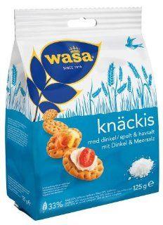 Wasa Knäckis mit Dinkel & Meersalz, 10er Pack (10 x 125 g Beutel): Lebensmittel & Getränke