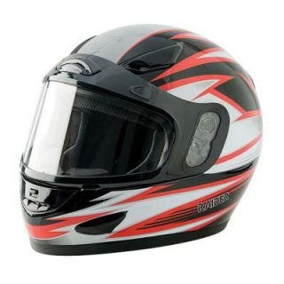 Raider Medium Adult Red Full Face Snow Helmet 26 680R M