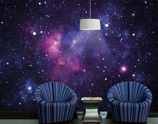 "Fototapete Fototapeten Tapete Tapeten No.172 ""GALAXY"" 400x280cm inkl. Kleister Foto Tapeten Universum Sterne Milchstraße Galaxie: Küche & Haushalt"