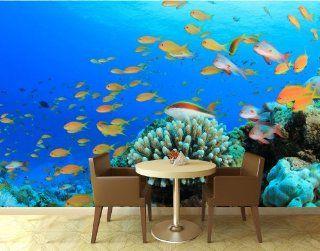 Fototapete Riffleben Unterwasser KT196 Größe 420x270cm Tapete Unterwasser Meer Riff Küche & Haushalt