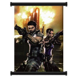 "Resident Evil 5 Game Fabric Wall Scroll Poster (16"" x 22"") Inches  Prints"