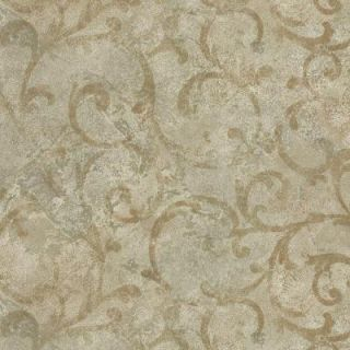 Brewster 8 in. W x 10 in. H Marble Textured Scroll Wallpaper Sample GK80704SAM
