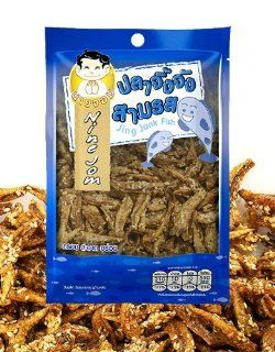 Nine Jom  Jing Jank Fish Healthy Snack Thai Style 1.59 Oz. Best Seller of Thailand  Other Products