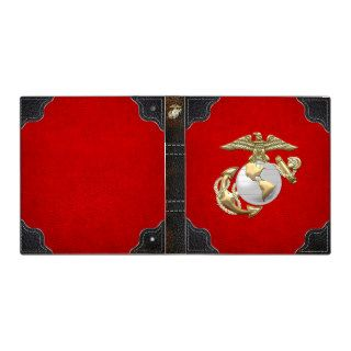USMC Eagle, Globe & Anchor (EGA) [3D] 3 Ring Binders