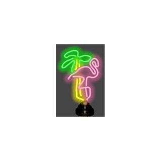 Flamingo and Palm Tree Neon Sculpture: Home Improvement