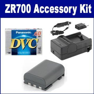 Canon ZR700 Camcorder Accessory Kit includes DVTAPE Tape/ Media, SDNB2LH Battery, SDM 118 Charger  Camera & Photo