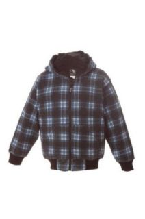 Berne Apparel BSZ112T Toddler's Plaid Hooded Sweatshirt Fleece Lined: Clothing