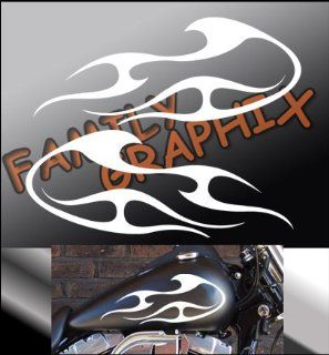 """Motorcycle Flames Gas Tank Flame Decals Harley 13""""x5.5"""" Flm122: Everything Else"""