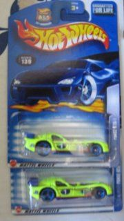 Hot Wheels 2003 Panoz GTR 1 Race Car NEON YELLOW 129 BASE COLOR VARIATION Toys & Games