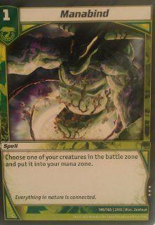 "Kaijudo ""Rise of the Duel Masters""   Loose Single Card   #148/165   ""Manabind""   Rare"