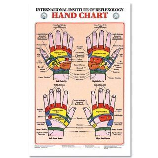 Hand Reflexology Chart Laminated: Industrial & Scientific