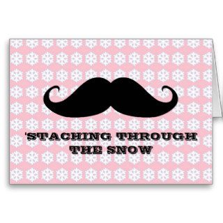 Funny hipster mustache holiday xmas mustaches cards