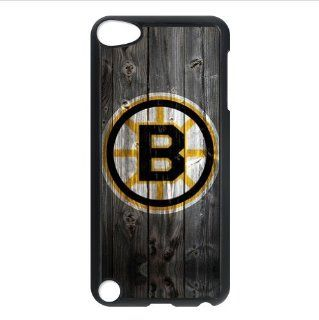Nice Wood Look NHL Boston Bruins Accessories Apple iPod Touch 5 iTouch 5th Designer Hard Case Cover   Players & Accessories