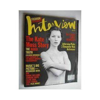 Interview Magazine March 1999 Kate Moss Cover and Feature: Editors of Interview: Books