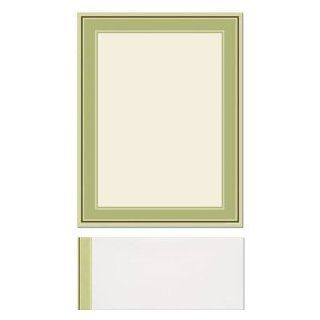 100 Multi Green Bordered Letterhead Sheets and 100 Matching Envelopes: Everything Else