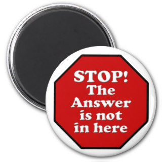 Diet Motivation Magnet, Stop Sign Refrigerator
