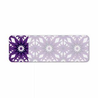 Bold Purple Star Pattern Starburst Design Return Address Label