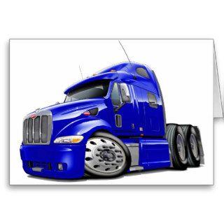 Peterbilt Blue Truck Greeting Cards
